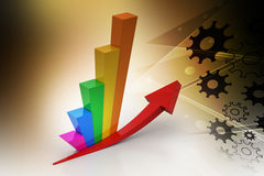 Financial growth. In color background Stock Image