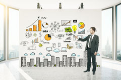 Financial growth concept Stock Photos