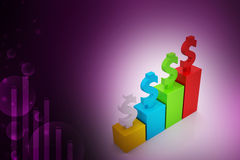 Financial growth concept. In color background Stock Photo