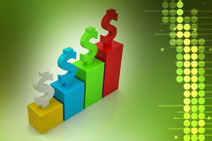 Financial growth concept. In color background Stock Photography