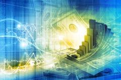 Financial growth concept. Digital illustration of Financial growth concept Stock Images