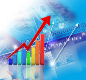 Financial growth concept. Digital illustration of Financial growth concept Stock Image
