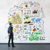 Financial growth concept royalty free stock image