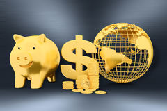 Financial growth. 3d concept on gray background Royalty Free Stock Photos