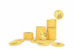 Financial growth. 3d concept  on white background Royalty Free Stock Photography