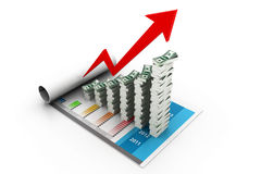 Financial growth. 3d illustration of Financial growth Royalty Free Stock Images