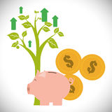 Financial Growth design Royalty Free Stock Photography