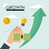 Financial Growth design Stock Photos
