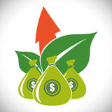 Financial Growth design Stock Images