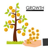 Financial Growth design Royalty Free Stock Image