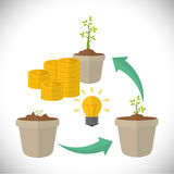Financial Growth design Stock Image
