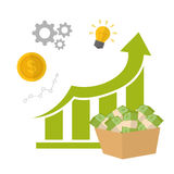 Financial Growth design Royalty Free Stock Images