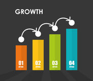 Financial growth design. Royalty Free Stock Photo