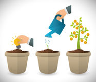 Financial growth design. Stock Photo