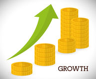 Financial growth design. Royalty Free Stock Photography