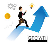 Financial growth design. Royalty Free Stock Image