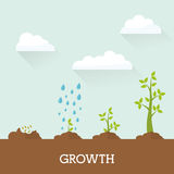 Financial growth design. Stock Image