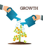 Financial growth design. Royalty Free Stock Images