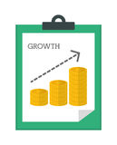 Financial growth design. Stock Photography