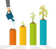 Financial growth design. Stock Photos