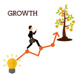 Financial growth design. Royalty Free Stock Photos