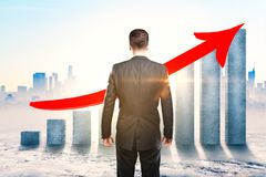 Financial growth and development concept royalty free stock images