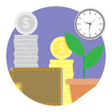 Financial growth and development vector icon. Web app icon fund and wealth account illustration Stock Photos