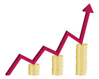 Financial growth graph concept Stock Photos
