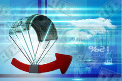 Financial growth graph. Digital illustration of Financial growth graph Stock Photo