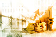 Financial growth graph. Digital illustration of Financial growth graph Stock Images