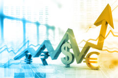 Financial growth graph Royalty Free Stock Images