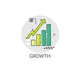 Financial Growth Graph Success Business Icon. Vector Illustration Stock Images