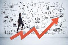 Financial growth and idea concept stock photos
