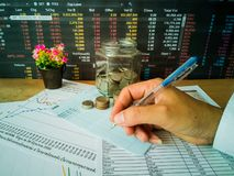 Financial growth and investment profits with financial concepts stock images