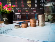 Financial growth and investor planning concepts royalty free stock image