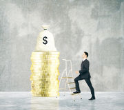 Financial growth ladder Stock Images