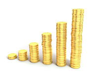 Financial growth or money saving concept. Financial growth or money saving 3d concept Stock Photography