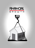 Financial growth. Over  gray background vector illustration Stock Photos