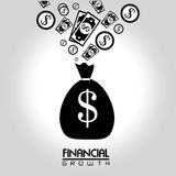 Financial growth. Over gray  background vector illustration Royalty Free Stock Photos