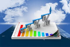 Financial growth in percentage Stock Images