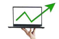 Financial  growth presentation Royalty Free Stock Images