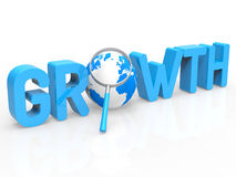 Financial Growth Represents Develop Expansion And Increase. Financial Growth Indicating Finances Develop And Magnification Royalty Free Stock Images