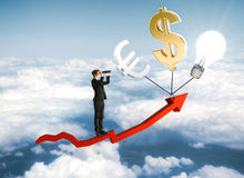 Financial growth and research concept stock photo