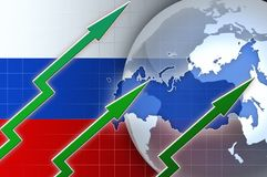 Financial growth in Russia - news background illustration Royalty Free Stock Photos