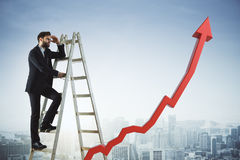 Financial growth and success concept Stock Photo
