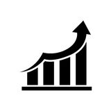 Financial growth symbol. Icon  illustration graphic design Royalty Free Stock Image