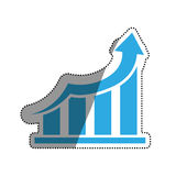 Financial growth symbol. Icon  illustration graphic design Stock Image
