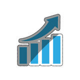 Financial growth symbol. Icon  illustration graphic design Stock Photos