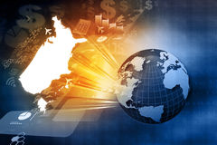 Financial growth of US economy. 3d illustration Royalty Free Stock Photography