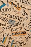 Financial headlines. Newspaper and magazine headlines with financial terms and concept Royalty Free Stock Photography